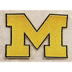 Iron On Embroidered Patch Michigan University Wolverines 3 INCH Top Quality