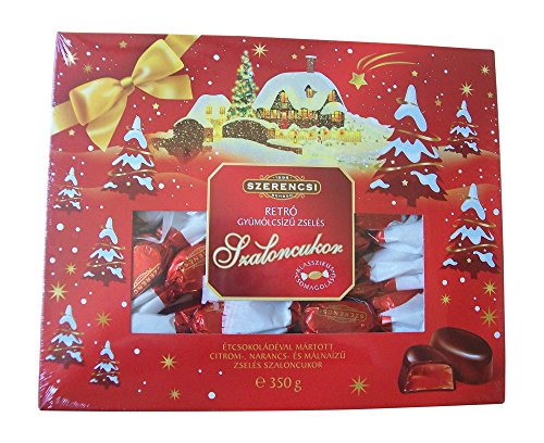 Hungarian Chocolate (jelly filled) Szerencsi Christmas Bonbons 350g/12.35oz Christmas Bonbons