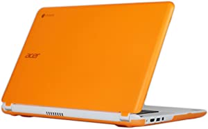 """iPearl mCover Hard Shell Case for 15.6"""" Acer Chromebook 15 C910 / CB5-571 / CB3-531 Series Laptop (Orange)"""