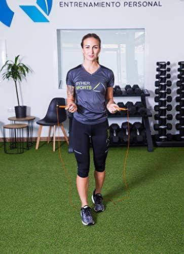 Ryher Empresa española Fabricante de Cuerda para Saltar - Kit con Comba Crossfit Hombre y Mujer, niños y Adultos - Combas de Fitness, Crossfit, Boxeo, ...