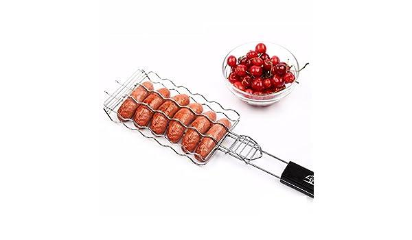 Amazon.com : BOCOMO Barbecue Sausage Grilling Basket Hot Dog Rack Metal Mesh Baskets Grill Rack Barbecue Baskets Great grill for 6 hot dogs54cm x 12cm x ...