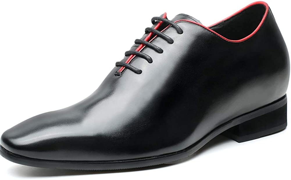 CHAMARIPA Elevator Shoes Leather Mens Dress Shoes Height Increasing Shoes