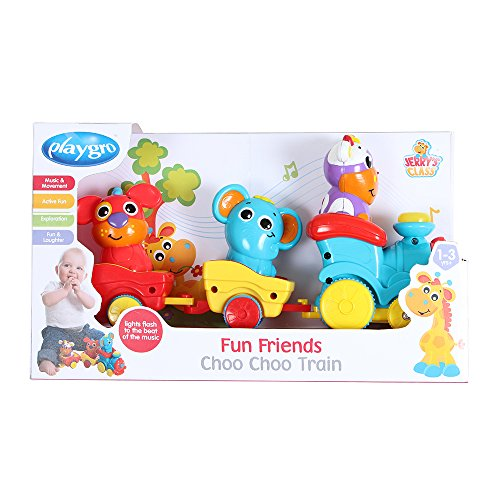 Playgro Fun Friends Choo Choo Train for Baby Infant Toddler Children 6385511, Playgro is Encouraging Imagination with STEM/STEM for a Bright Future - Great Start for a World of Learning