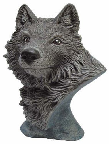 (Creative Kreations Ceramics Wolf Bust 8