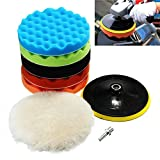 7 foam polishing buffing pad - Polishing Pads Set, Auoker 8Pcs 7