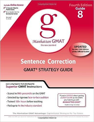 Manhattan Gmat Sentence Correction Book