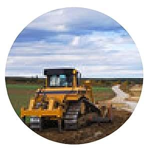 alfombrilla de ratón Niveladora en el emplazamiento de la obra para la construcción de carreteras - ronda - 20cm