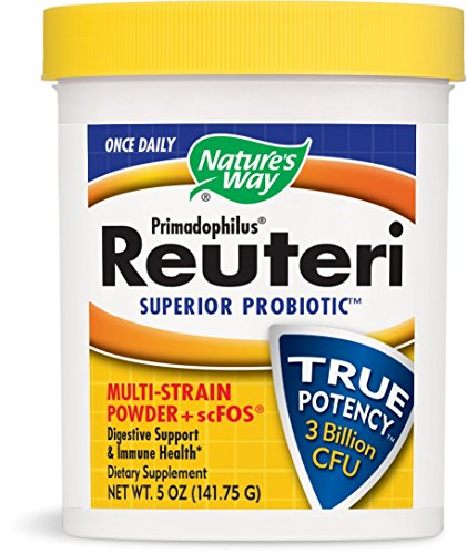 Nature's Way Once Daily Primadophilus® Reuteri Superior Probiotic Multi Strain Powder with scFOS Digestive Support & Immune Health, 5 Oz. (Keep refrigerated to maintain maximum potency)