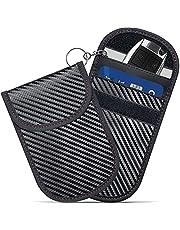 Faraday Bag for Key Fob (2 Pack), GICENT Car RFID Signal Blocking Pouch,Faraday Key fob Protector, Black Anti-Theft Signal Blocker, Remote Entry Smart Fob Case