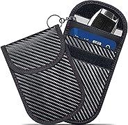 Faraday Bag for Key Fob (2 Pack), GICENT Car RFID Signal Blocking Pouch,Faraday Key fob Protector, Black Anti-