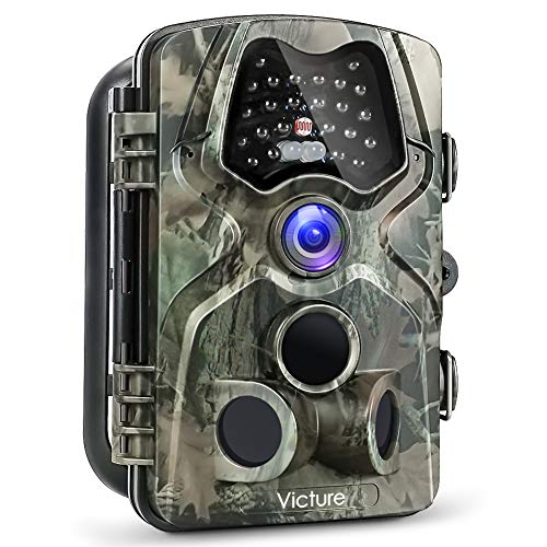 【Upgraded】 Victure Trail Game Camera 1080P 12MP Wildlife Hunting Camera with 120 Degree Wide Angle, Night Vision Infrared, IP66 Waterproof Design, 2.4 inch LCD Display for Wildlife Surveillance