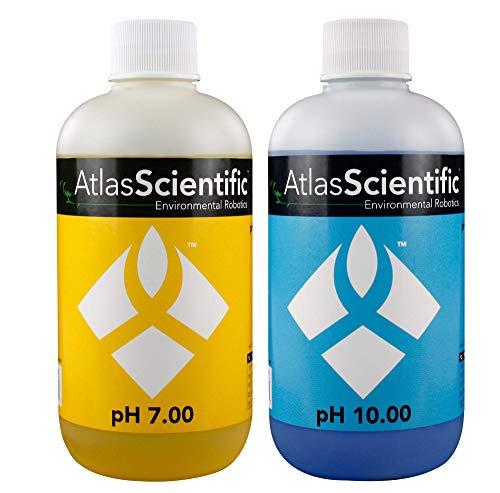 (Atlas Scientific pH 7.00 & 10.00 Calibration Solution 250ml - 8oz (Pack of 2))