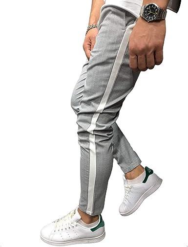 fuxinhe Pantalones Largos de Hombre Deportivos con 2 Bolsillos ...
