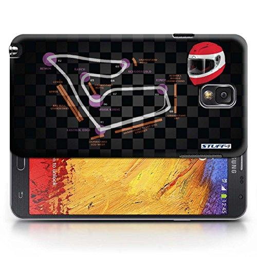 Etui / Coque pour Samsung Galaxy Note 3 / Autriche/Spielberg conception / Collection de 2014 F1 Piste