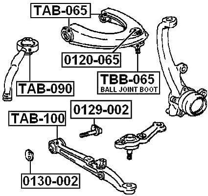 FEBEST TBB-065 Front Upper Arm Ball Joint Boot