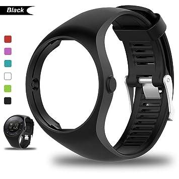 Bemodst® para Polar M200, correa de silicona para reloj inteligente, color negro