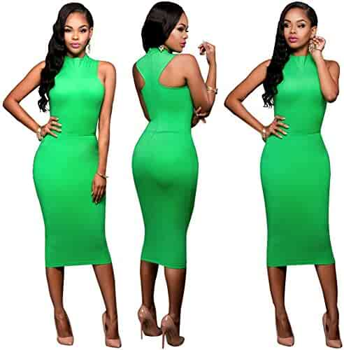 8d6969112448 Antique Style Womens Sexy Sleeveless Package Hip Bodycon Party Club Midi  Dress Pencil Skirt