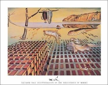 (Salvador Dali - Disintegration Of The Persistence Of Memory, C.1954)