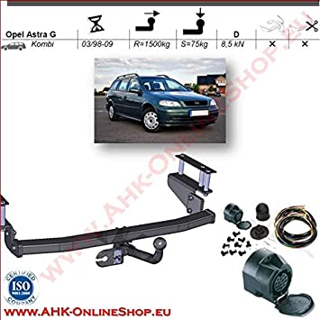 AHK 13 Pin Wiring Kit For Vauxhall Astra II G 19982004 Estate Tow