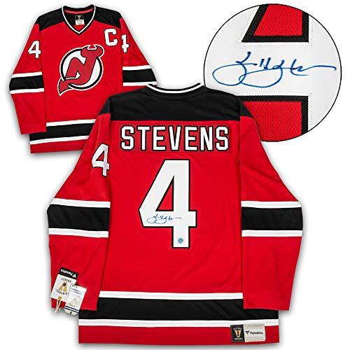 AJ Sports World Scott Stevens New Jersey Devils Autographed Fanatics Vintage Hockey Jersey