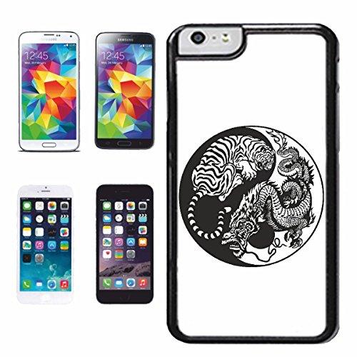 """cas de téléphone iPhone 6+ Plus """"TIGER DRAGON DRAGON SIGN CHINA SHANGHAI TIGER WILD ANIMAL BIG CAT LEOPARD BIG CAT"""" Hard Case Cover Téléphone Covers Smart Cover pour Apple iPhone"""
