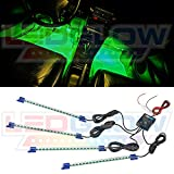 LEDGlow 4pc Green LED Interior Underdash Footwell Accent Car Truck Light Kit 9