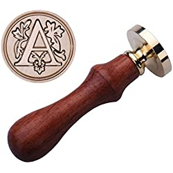 Jeeke Wax Seal Stamp, Retro Classic Alphabet Creative Romantic Stamp Maker Letter Wax Seal, A to Z (A, 0.98 x 3.54 inch)