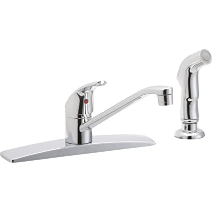 Elkay Lk2478cr Everyday Chrome Kitchen Faucet With Side Spray