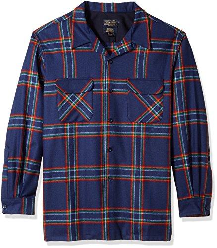 - Pendleton Men's Classic Fit Long Sleeve Board Shirt, Crater Lake Park Plaid, LG
