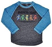 Grateful Dead Toddlers T-Shirt Dancing Bear Print Raglan Burnout