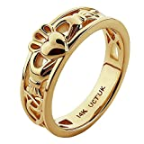14K Yellow Gold ULG-6157Y Claddagh Ring - Size: 5