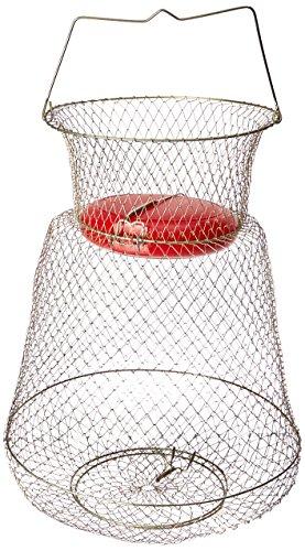 KUFA Sports Floatable Galvanized Wire Fish Basket, Gold, Med