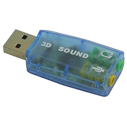 Sienoc 5.1 estéreo adaptador de la tarjeta de sonido USB de audio del micrófono de sonido 3D Tarjeta de sonido Adaptador de Skype