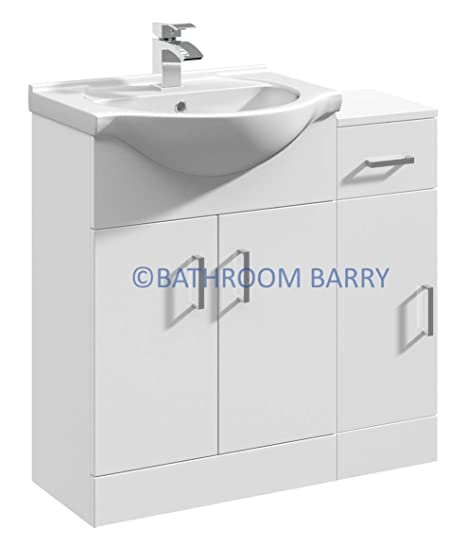 gloss gloss modular bathroom. 800mm Modular High Gloss White Bathroom Combination Vanity Basin Sink Cabinet \u0026 Cupboard Unit,