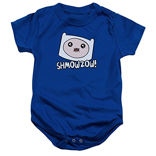Adventure Time Shmowzow Unisex Baby Snapsuit (Royal Blue, 6 Months) - Adventure Time Baby Clothes