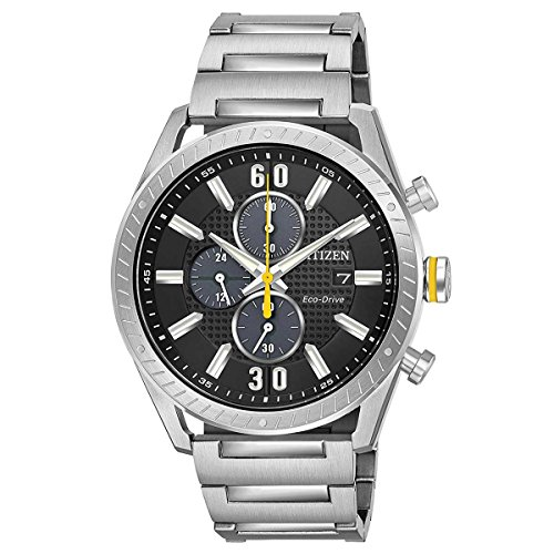 Citizen Mens Black Dial Watch - Citizen CTO Black Dial Stainless Steel Men's Watch CA0660-54E