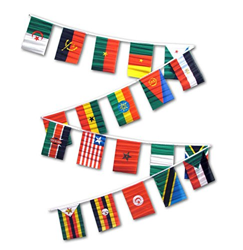 30ft String Flag Set of 20 African Country Flags