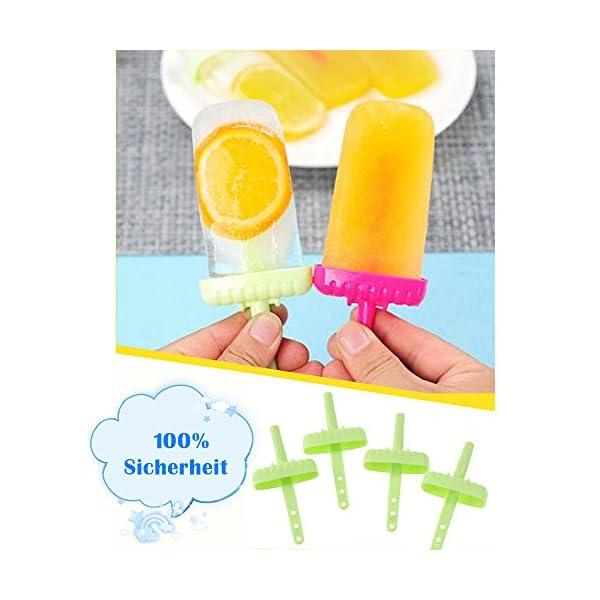 delmkin 6 St. ghiaccioli forme ghiaccio forme 6 pezzi gelato forme per bambini verde 5 spesavip