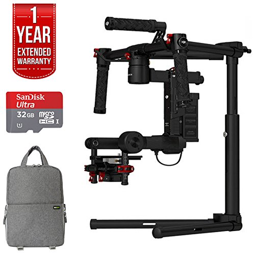 DJI Ronin M 3-Axis Brushless V3 Gimbal Stabilizer w/ 2 Batteries (CP.ZM.000144) SLR GO Pack with Fitted SLR Backpack, 32GB Sandisk Ultra Card and One Year Warranty Extension
