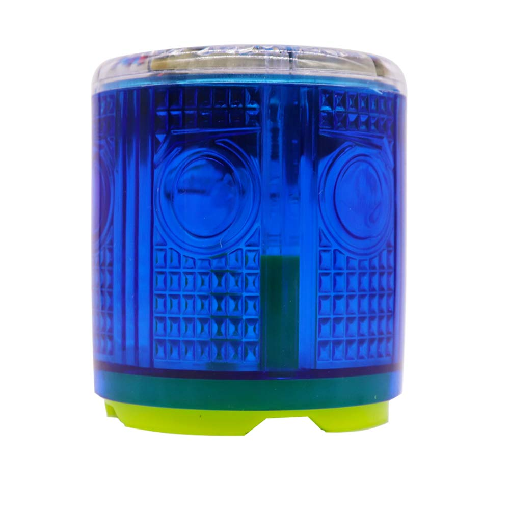 Aolyty Solar Strobe Warning Light Strong Magnetic Base Flashing Super Bright 360 Degree Wireless Automatically Turn On Waterproof for Construction Traffic Factory (Blue)