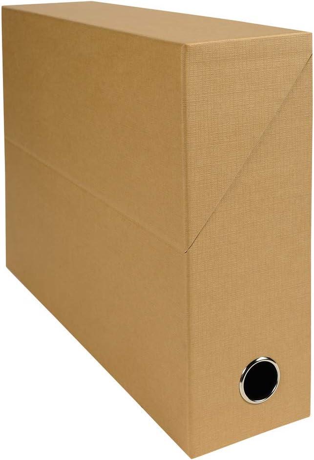Exacompta 89528E - Caja de transferencia Papel con aspecto tejido, color Habana: Amazon.es: Oficina y papelería
