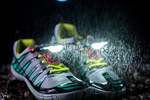 Night Runner 270°– Night Running Gear Lights for Running Shoes, 270 Degree Shoe Lights, Water Resistant, Two Ultra-Light LED Lights