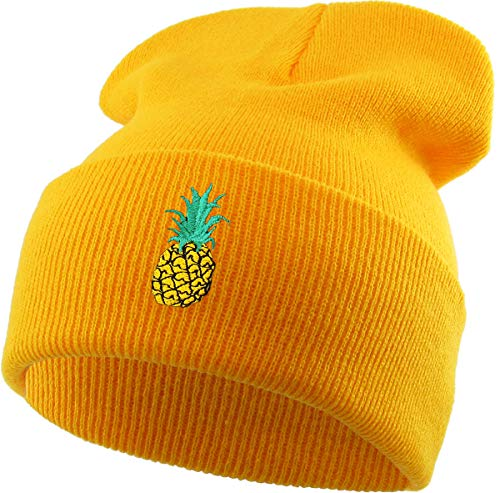 KBSW-E003 GLD Embroidered Beanie Winter Ski Hat Cuffed Skull Cap Knit ()
