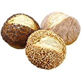 3'' Artificial Bagged Assorted Dinner Rolls -Brown (pack of 12)