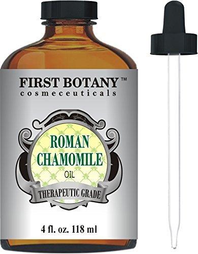 Roman Chamomile Essential Oil with a Glass Dropper - Large 4 fl. oz-...