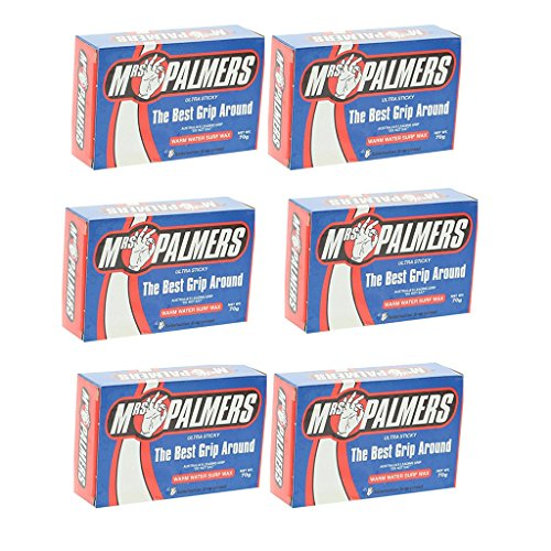 Mrs. Palmers Warm Water Surfboard Wax 6 Pack by Mrs. Palmers