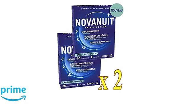 novanuit sueño triple action - Pastillas sin Dioxide de titanio - 2 meses de tratamiento - - Juego de 2 cajas de 30 COMP (2): Amazon.es: Salud y cuidado ...