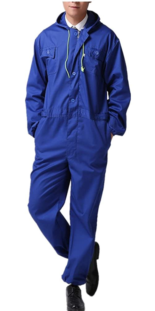 XinAndy Men's Blue Hoodies Work Coverall