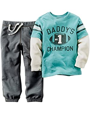 Carter's Baby Boys Daddy's Champion 2 piece Outfit