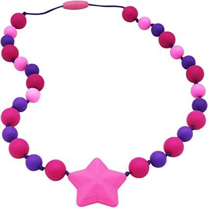 Girls BPA Free /& Durable Designed for Autism Oral Motor Girls 2 Pack Sensory Chew Necklace for Kids ADHD Oral Sensory Chew Toys Teether Necklace Chewing Necklace Teething Necklace